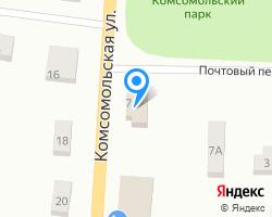 Схема местоположения почтового отделения 187750