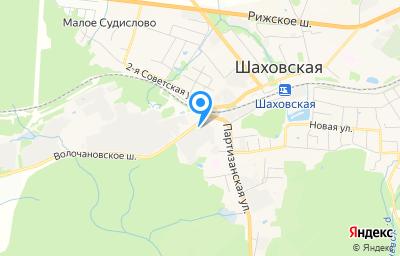 Местоположение на карте пункта техосмотра по адресу Московская обл, рп Шаховская, ш Волочановское, д 1