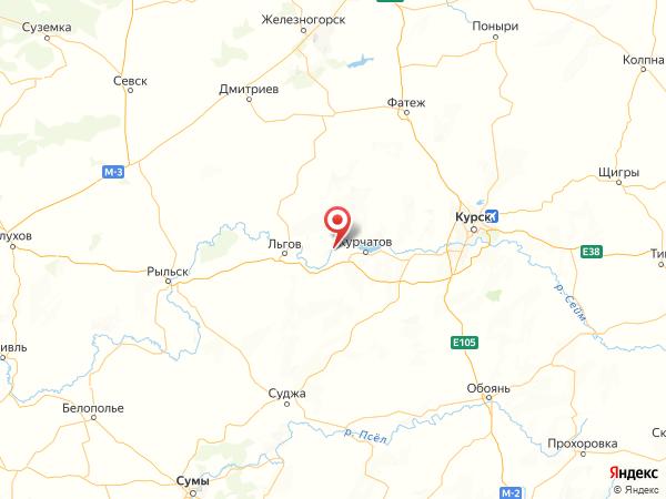 село Быки на карте
