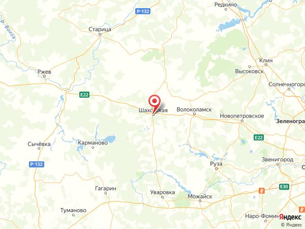 посёлок городского типа Шаховская на карте