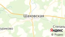 Гостиницы города Шаховская на карте