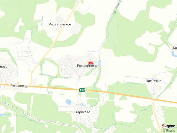 Карта населенный пункт Рождествено