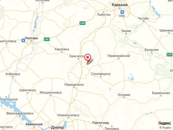 село Раздолье на карте