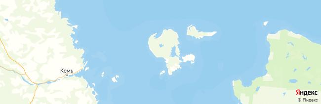 Соловецкие острова (Соловки) на карте