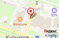 Схема проезда до компании Строитель в Курчатове