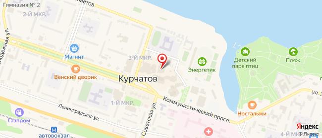 Карта расположения пункта доставки Курчатов Коммунистический в городе Курчатов