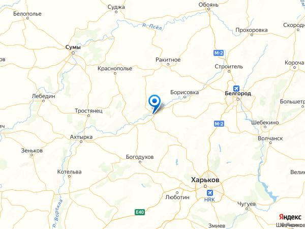 Грайворон на карте