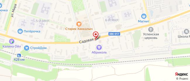 Карта расположения пункта доставки Курчатов Садовая в городе Курчатов