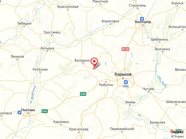 поселок Максимовка на карте