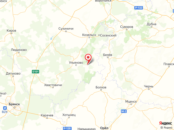 деревня Широковский на карте