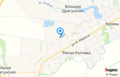 Местоположение на карте пункта техосмотра по адресу Орловская обл, пгт Кромы, ул К.Маркса, д 122