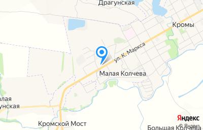 Местоположение на карте пункта техосмотра по адресу Орловская обл, пгт Кромы, ул К.Маркса, д 96Б литер а