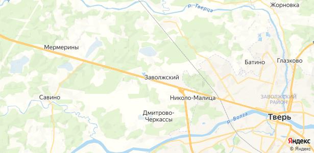Заволжский на карте
