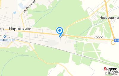Местоположение на карте пункта техосмотра по адресу Орловская обл, пгт Нарышкино, ул Ленина, д 7