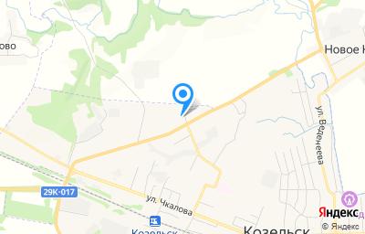 Местоположение на карте пункта техосмотра по адресу Калужская обл, г Козельск, ул Северная, д 1