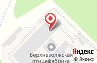Схема проезда до компании Верхневолжская в Рязаново