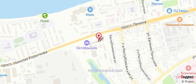 Карта расположения пункта доставки Тверь 50 лет Октября в городе Тверь