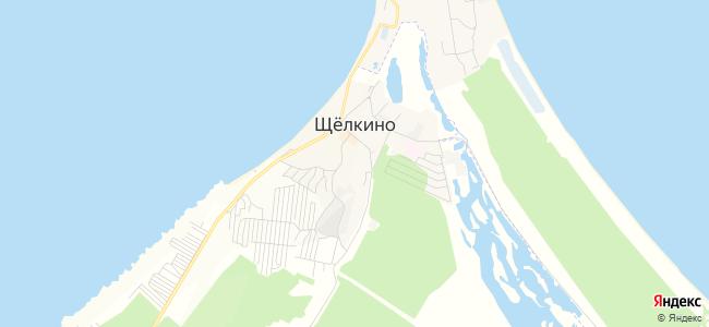 Щелкино - объекты на карте