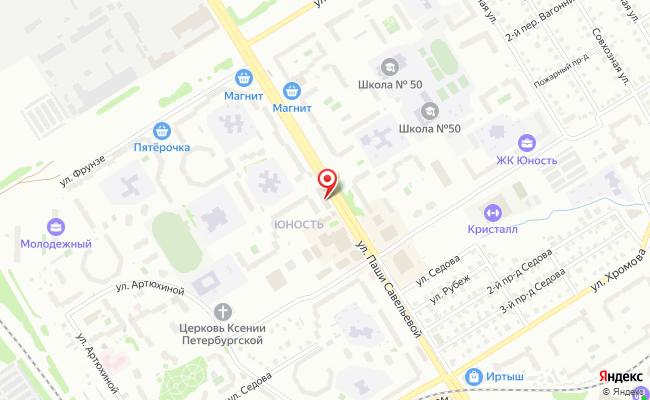 Карта расположения пункта доставки Тверь Паши Савельевой в городе Тверь