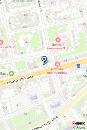 Орхидея на карте Твери