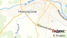 Отели города Кривцово на карте