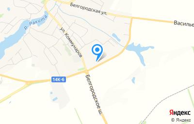 Местоположение на карте пункта техосмотра по адресу Белгородская обл, п Ракитное, ул Коммунаров