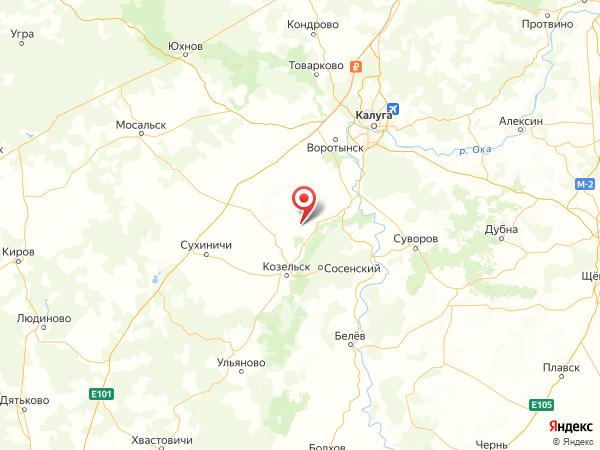 деревня Руднево на карте