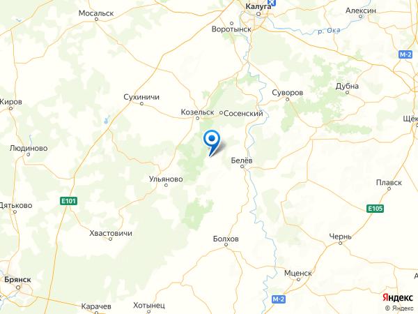 село Ленинский на карте