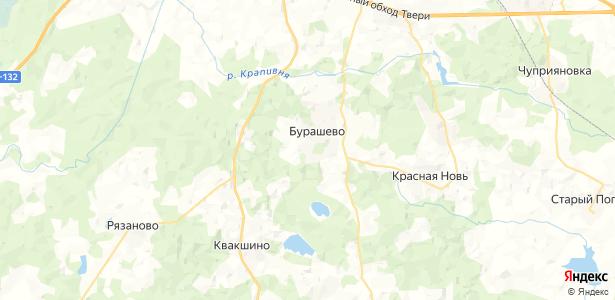 Бурашево на карте