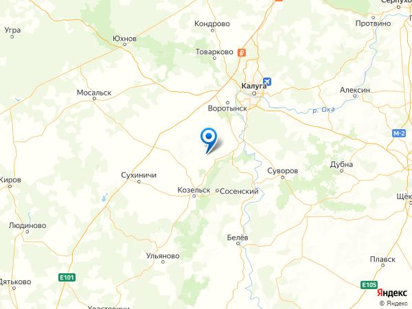 деревня Калинино на карте