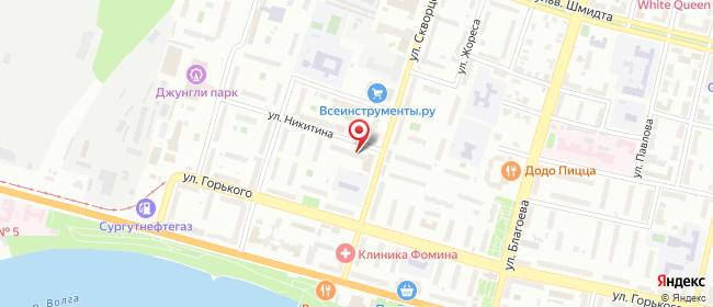 Карта расположения пункта доставки Тверь Скворцова-Степанова в городе Тверь