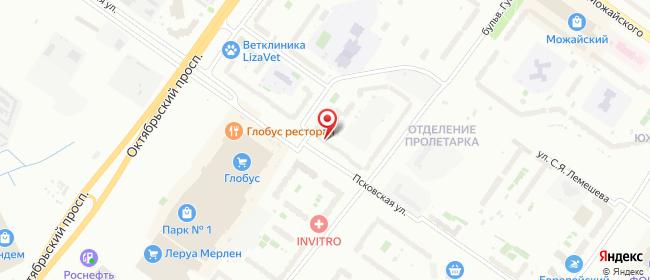 Карта расположения пункта доставки Центр выдачи интернет-заказов в городе Тверь