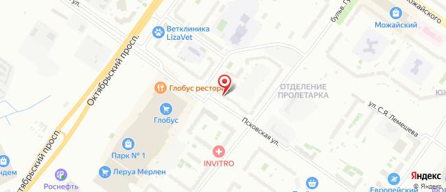 Карта расположения пункта доставки Тверь Гусева в городе Тверь