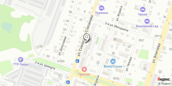 Крица. Схема проезда в Твери