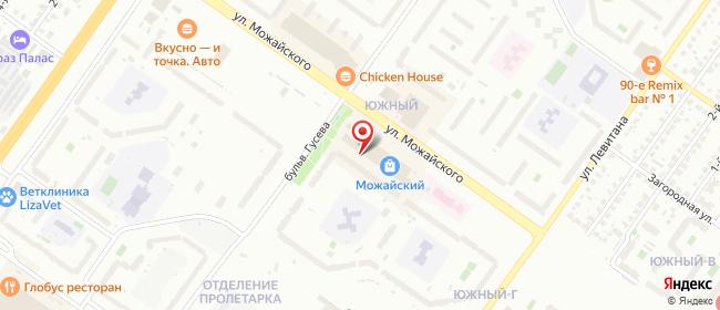 Карта расположения пункта доставки Салон связи МикроСервис в городе Тверь