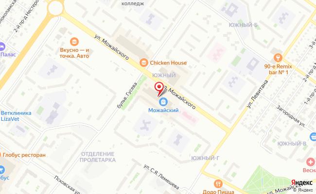 Карта расположения пункта доставки Тверь Можайского в городе Тверь