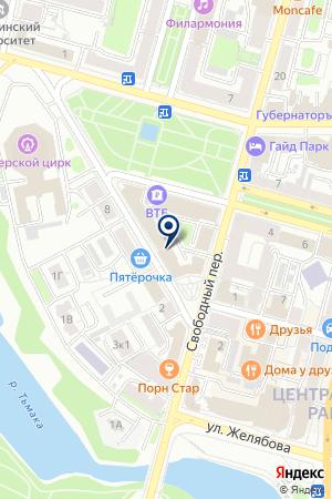 Управление Федеральной службы по надзору в сфере здравоохранения и социального развития по Тверской области на карте Твери