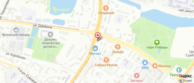 Карта расположения пункта доставки Билайн в городе Тверь