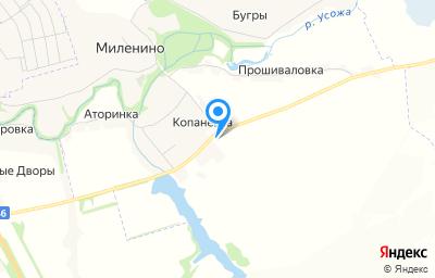 Местоположение на карте пункта техосмотра по адресу Курская обл, Фатежский р-н, д Копаневка, влд 54