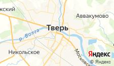 Гостиницы города Тверь на карте