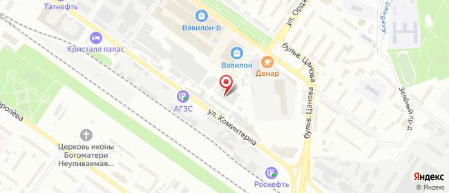 Карта расположения пункта доставки Тверь Коминтерна в городе Тверь