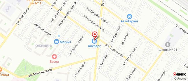 Карта расположения пункта доставки Тверь Бурашевское в городе Тверь