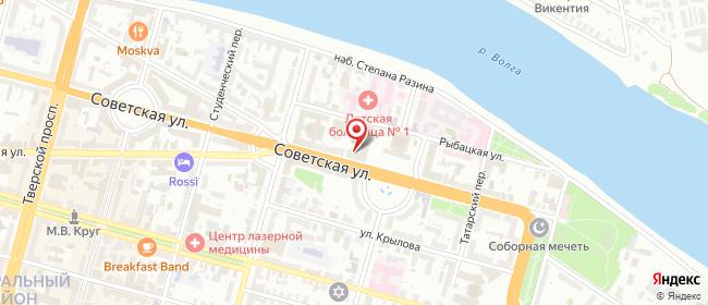 Карта расположения пункта доставки Ростелеком в городе Тверь