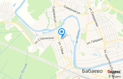 Местоположение на карте пункта техосмотра по адресу Вологодская обл, г Бабаево, ул 1 Мая, д 76