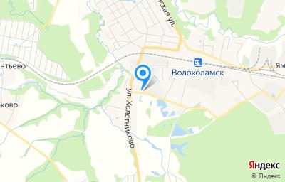 Местоположение на карте пункта техосмотра по адресу Московская обл, г Волоколамск, ул Терешковой, д 1