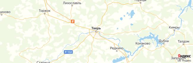 Тверская область на карте