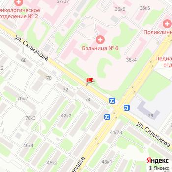 г. Тверь, ул. Склизкова, на карта