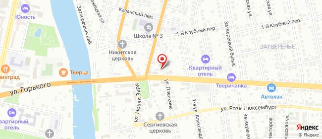 Карта расположения пункта доставки 220 вольт в городе Тверь