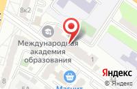 Схема проезда до компании Контакт-Универсал в Твери