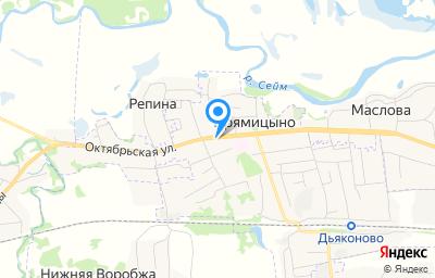 Местоположение на карте пункта техосмотра по адресу Курская обл, пгт Прямицыно, ул Октябрьская, д 165
